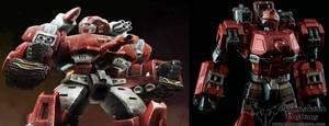 Custom Transformers Warpath Robot Mode