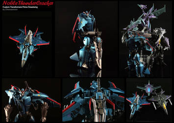 Custom Transformers Prime Warrior Thundercracker by chonosmoon
