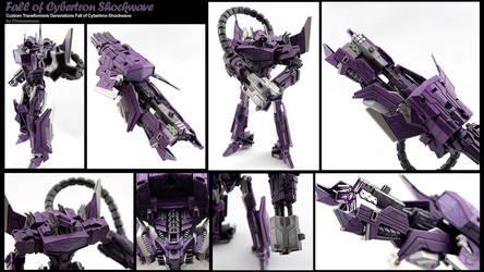 Custom Transformers Fall of Cybertron Shockwave by chonosmoon