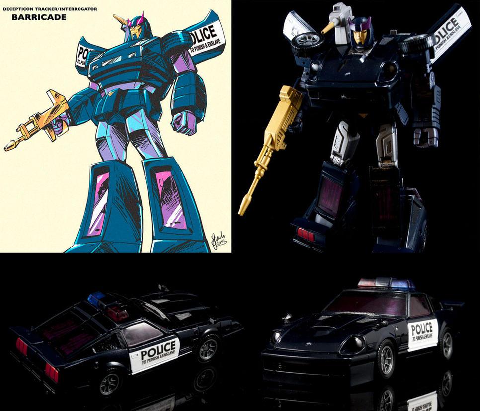 Custom Transformers Masterpiece Movie G1 Barricade by chonosmoon