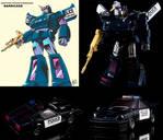 Custom Transformers Masterpiece Movie G1 Barricade