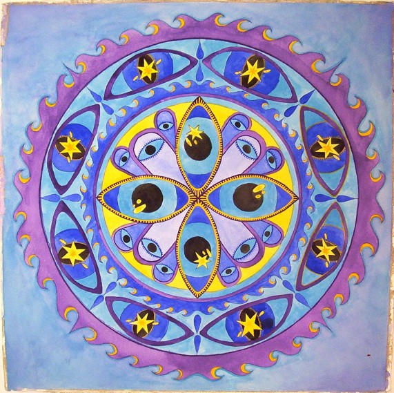 Blue Mandala by Trevania