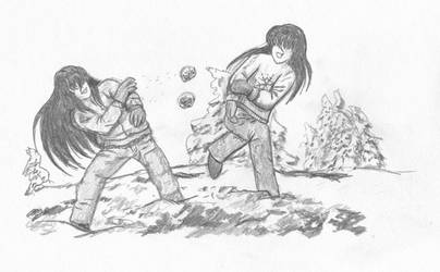 Secret Santa: Snowball Fight by InuHanyou