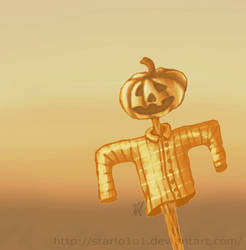 Pumpkin Scarecrow by starlo1o1