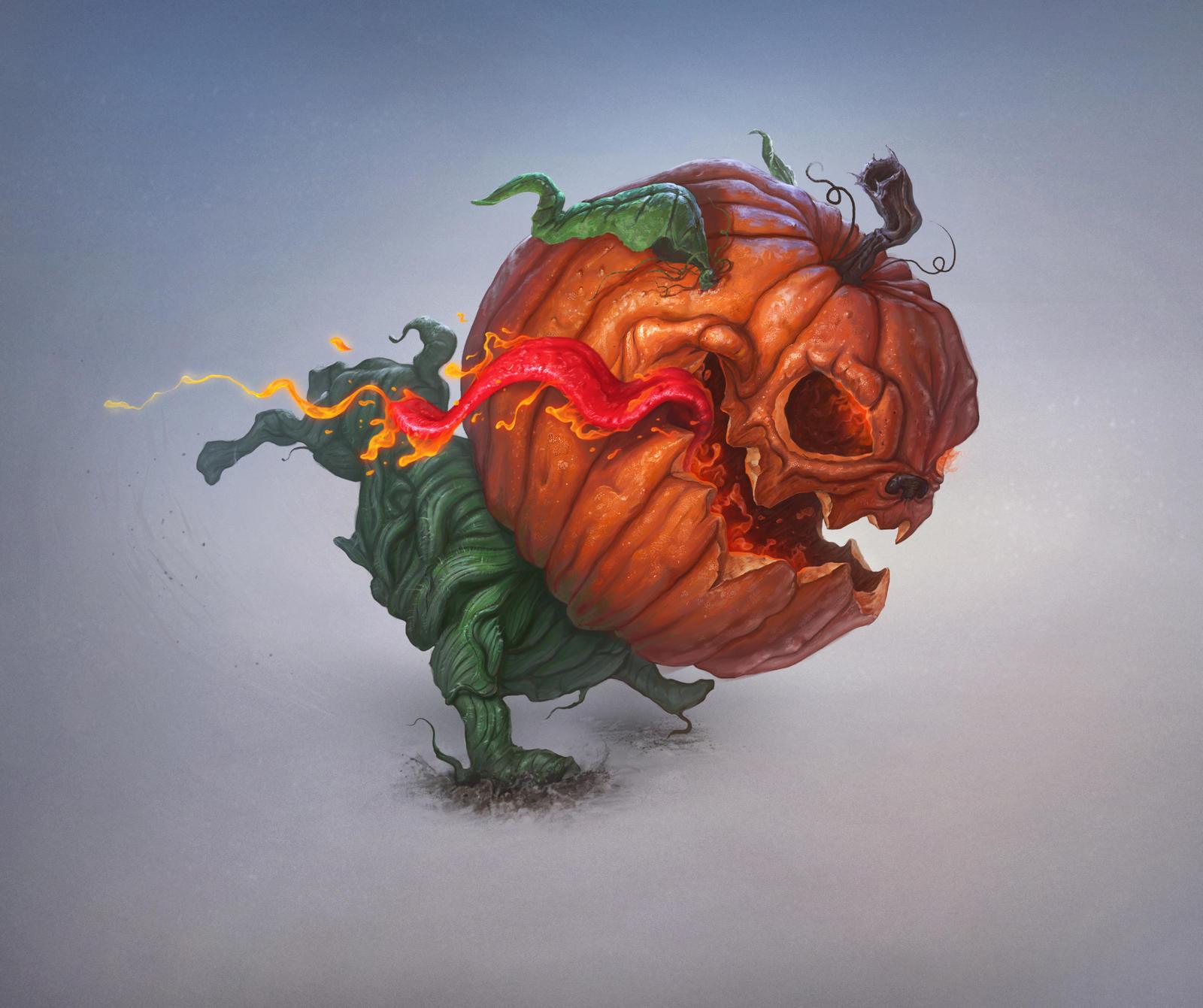 Pumpkin-dog by AlexeyZaporozhets