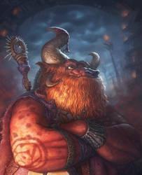 Tauren shaman by AlexeyZaporozhets