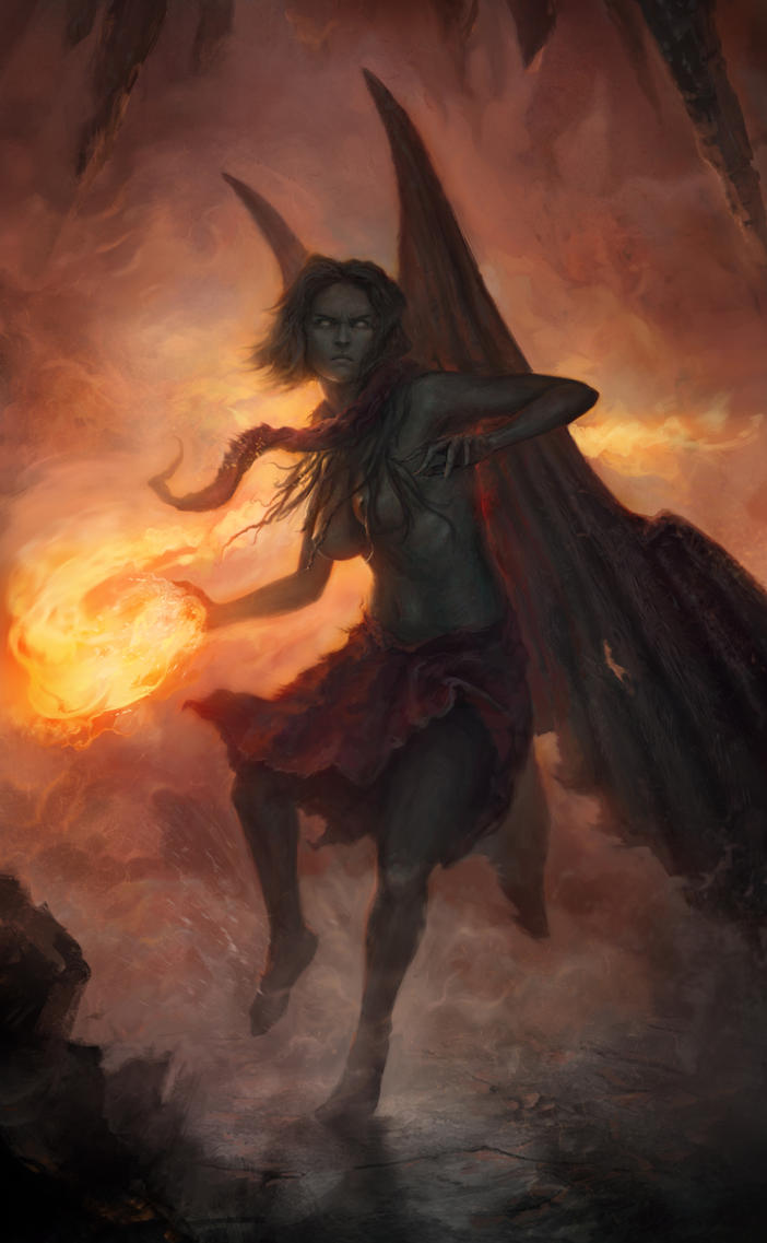 One of the Furies by AlexeyZaporozhets