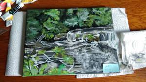 Waterfall Scene Canvas
