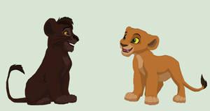 Penzi and Kosefu as cubs