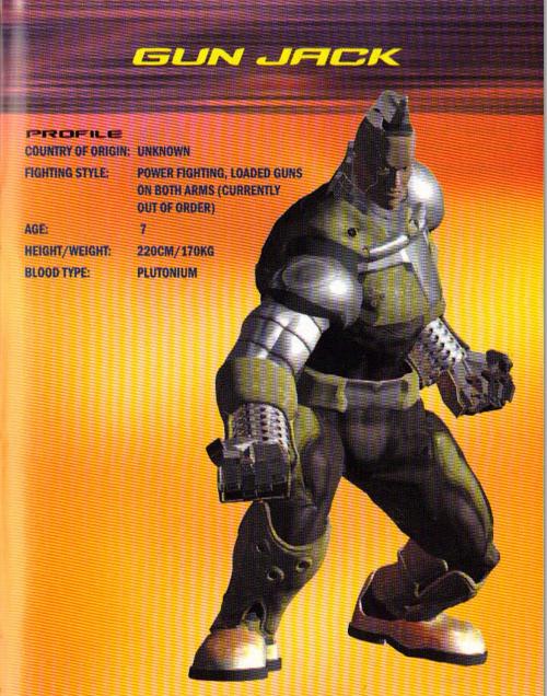 Tekken Tag Tournament 1 Gunjack S Profile By Asukaminaj On Deviantart