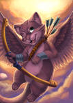 Cupid Kitty by Bumbledoodle