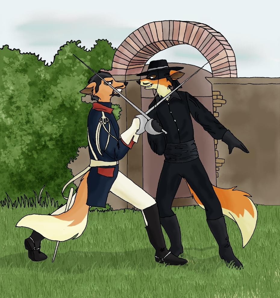Zorro vs Monastario by PheaVampire