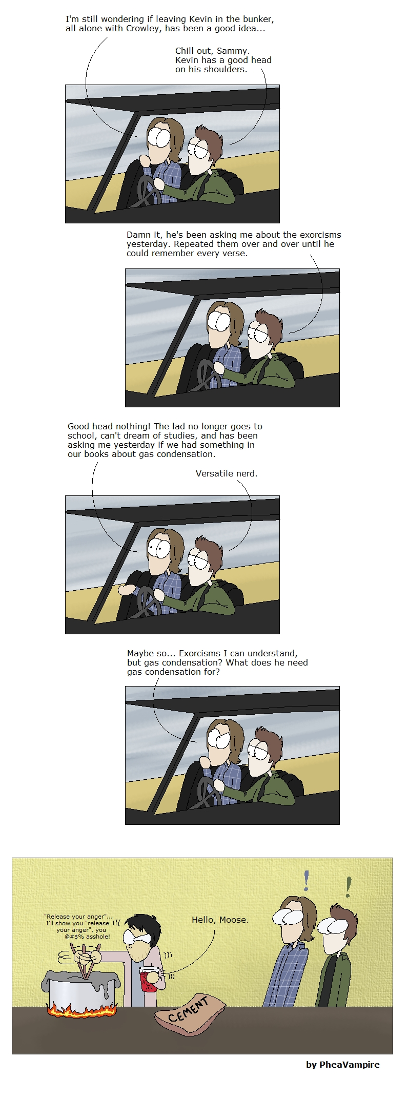SPN: In the bunker (kind of SPOILER) by PheaVampire