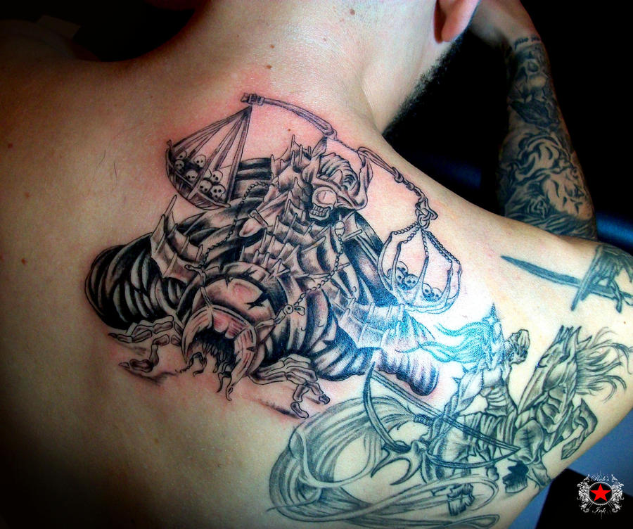 horseman tattoo by robert greg voulgari on deviantart. Black Bedroom Furniture Sets. Home Design Ideas