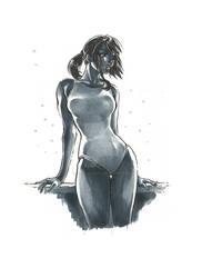 Monochrome Swimsuit