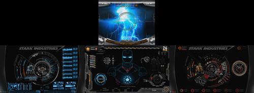 S.H.I.E.L.D + J.A.R.V.I.S + Avengers | 4 Monitors by edreyes