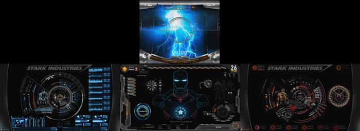 S.H.I.E.L.D + J.A.R.V.I.S + Avengers   4 Monitors