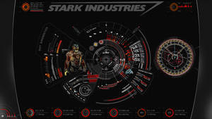 JARVIS + Iron Man : Red Rainmeter Theme by edreyes