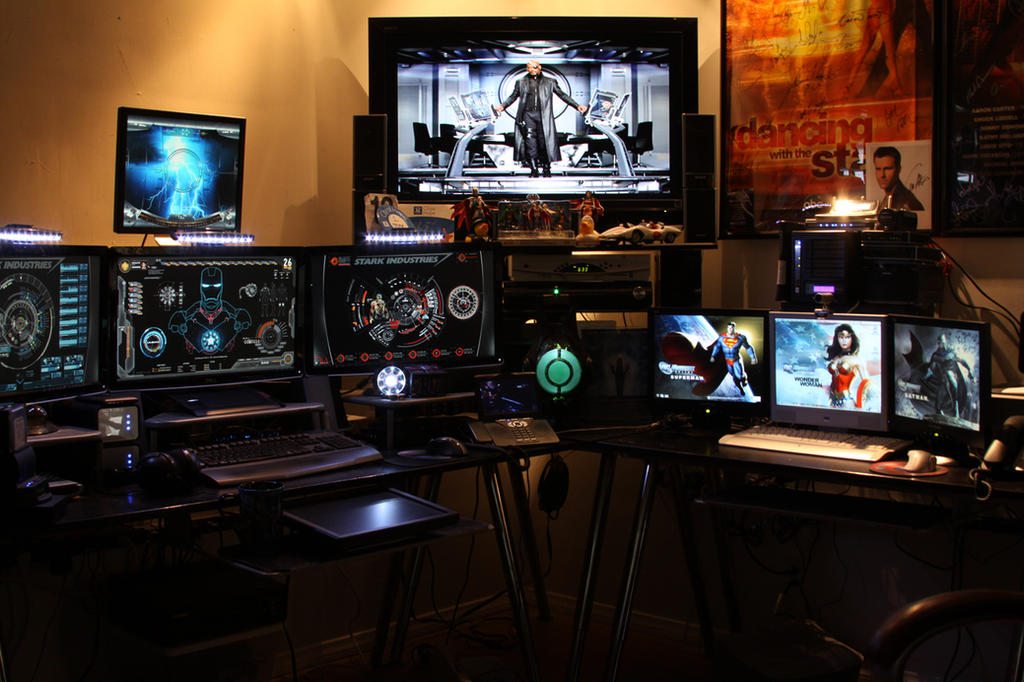 Man Cave Desk : Tony stark inspired man cave by edreyes on deviantart