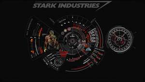 JARVIS + Iron Man : Red Wallpaper by edreyes