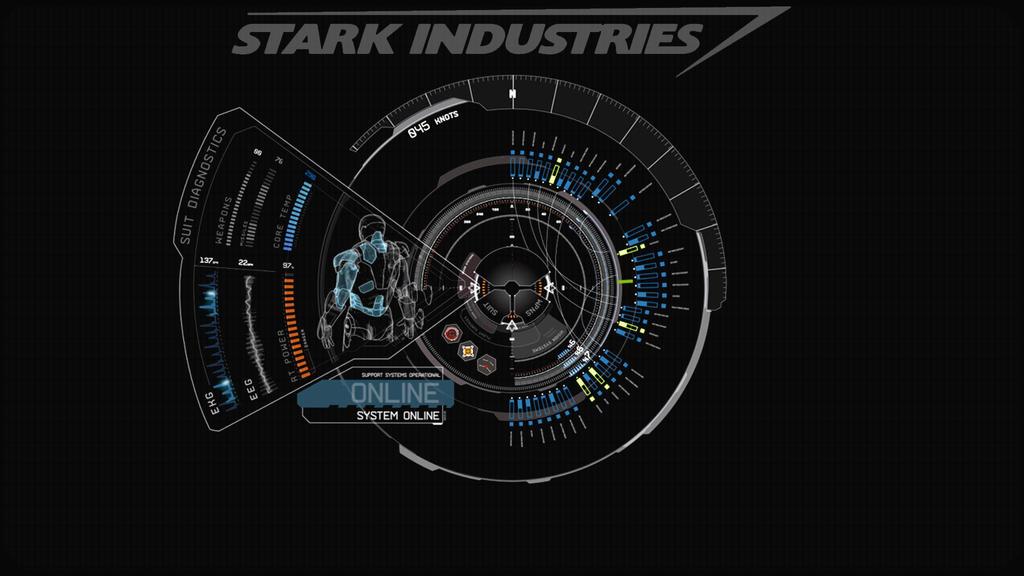 JARVIS + Iron Man : Blue Wallpaper by edreyes ...