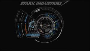 JARVIS + Iron Man : Blue Wallpaper by edreyes