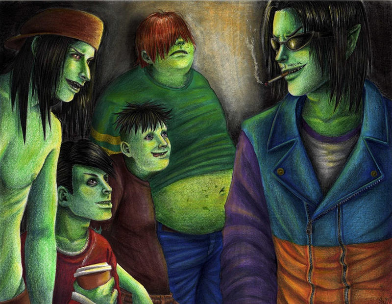 The Gangreen Gang By Thedayissaved On Deviantart