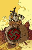 Atomic Robo Pin-up by 2depaus