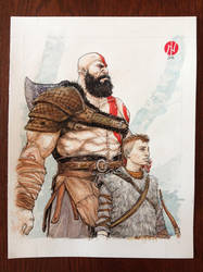 Kratos and Atreus by 2depaus
