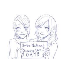 Rain and Emily say: Happy Coming Out Day! by SennaKoshiba