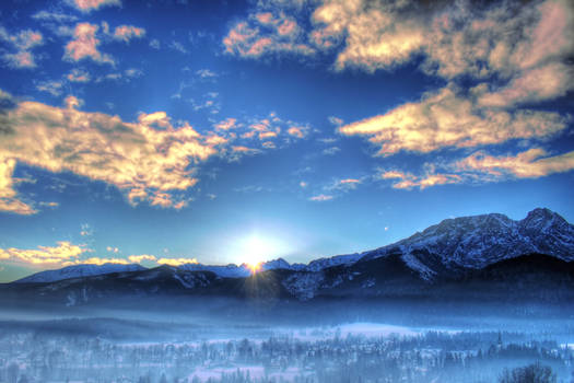 Winter landscape in the mornin