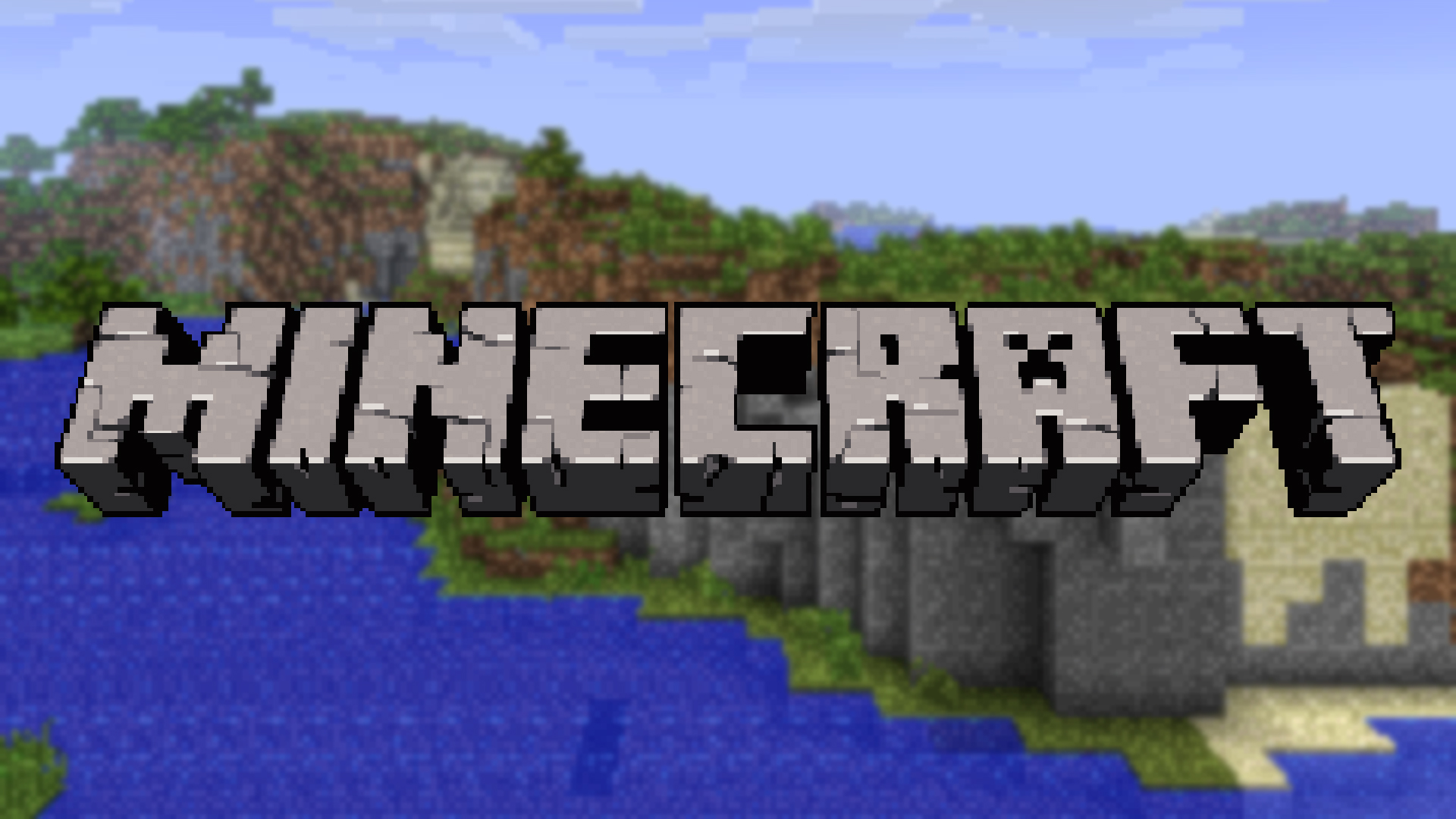 Minecraft logo wallpaper by averagejoeftw