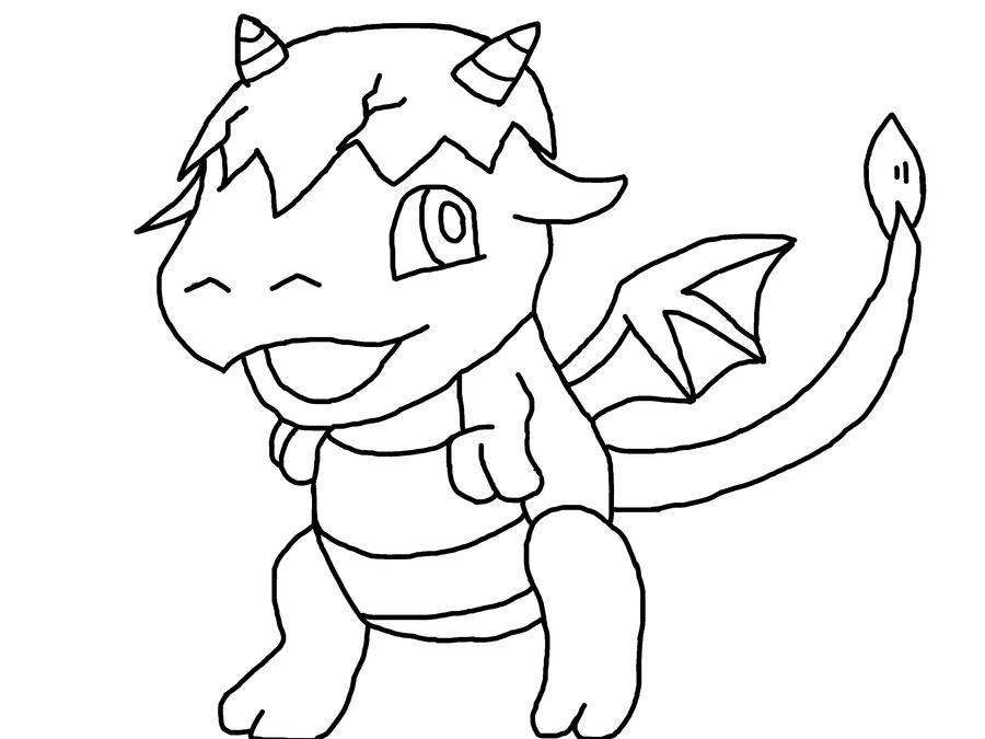 how to draw a baby dragon easy
