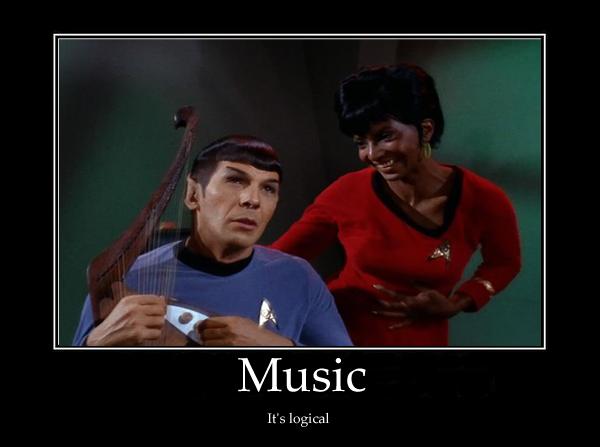 Musical Spock by RoboInvisaBunny