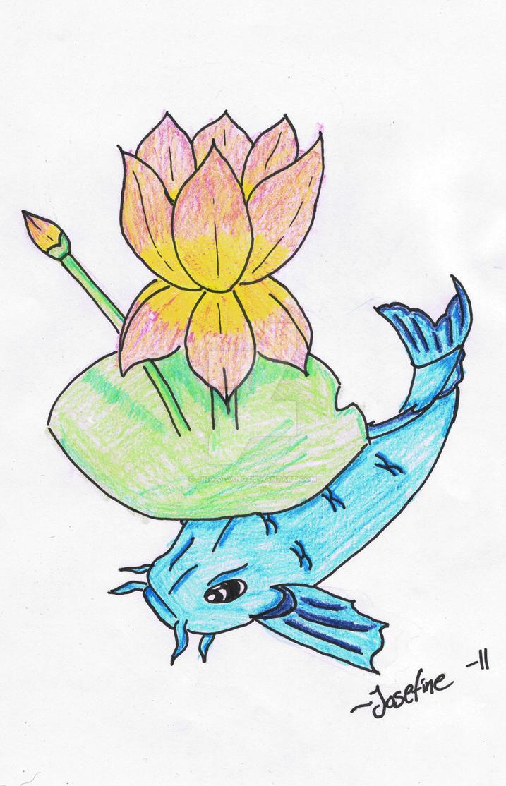 Koi fish and lotus flower by jing o jang on deviantart koi fish and lotus flower by jing o jang izmirmasajfo