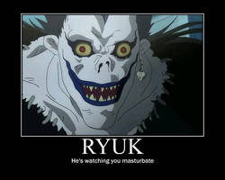 Ryuk is watchin you masturbate by Deathsabre