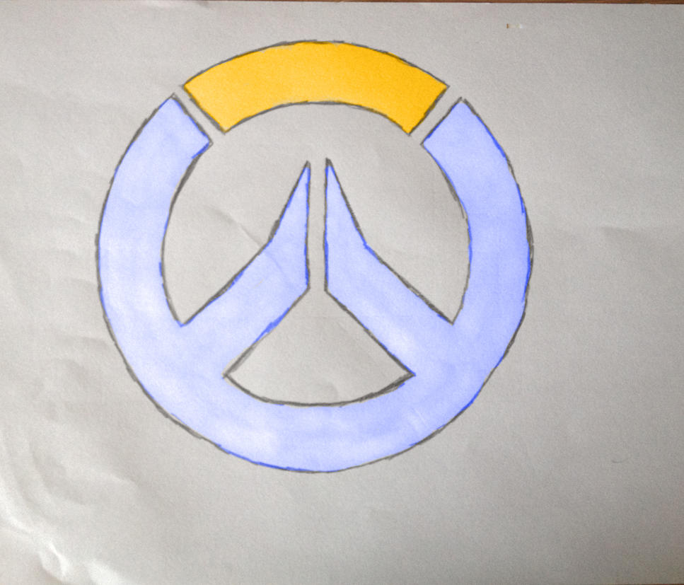 Overwatch Logo (drawn) by COOL244