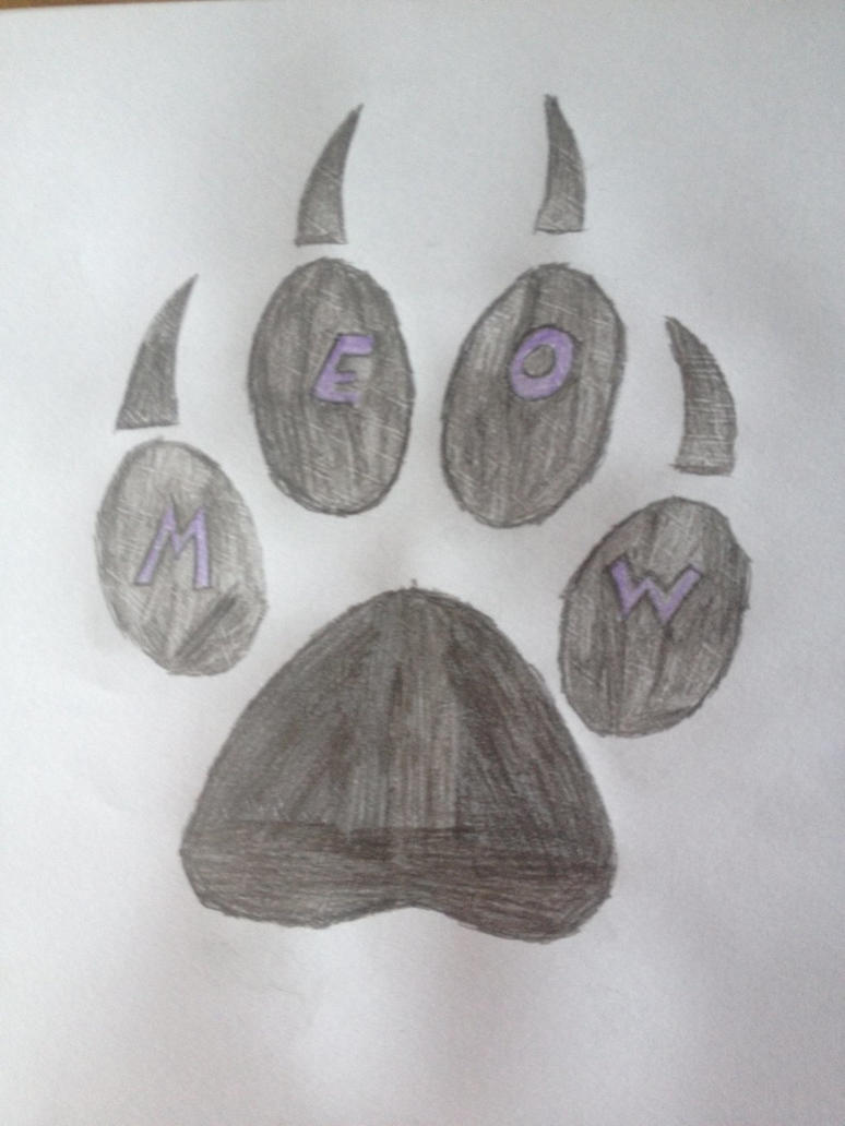 Custom cat paw drawing  by COOL244