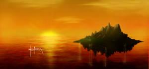 Sunset at Angel Island
