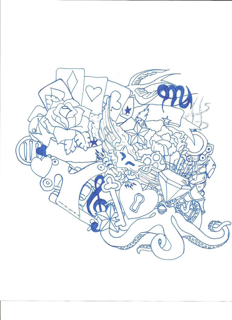 sleeve or side tattoo design - sleeve tattoo
