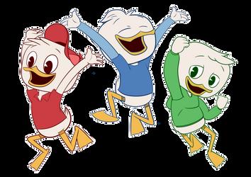 Huey, Dewey and Louie - DuckTales 2017 by iwannadrawgood