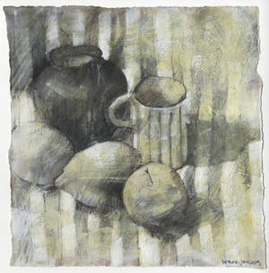 charcoal and gesso