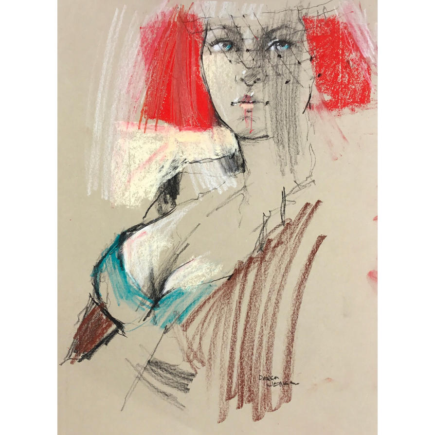 Charcoal and pastel by derekjones