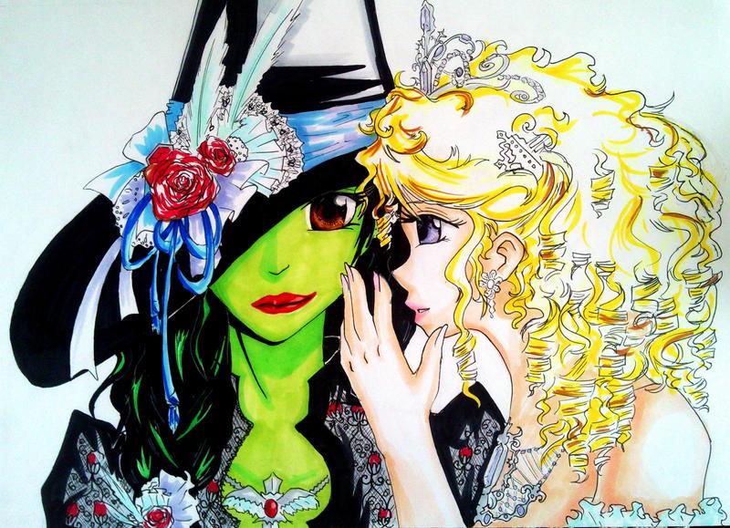 Wicked, Copic Illustration by TheSingingAnimeFan