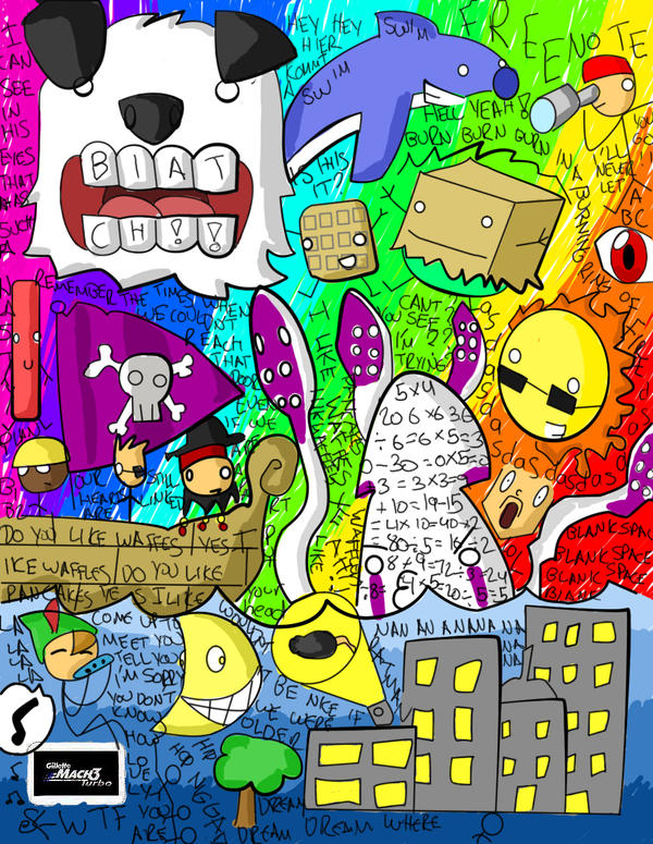 Random Colorful Drawings