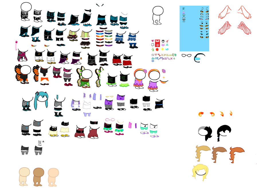 Homestuck Sprite Outfits by Shadestepwarrior