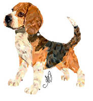 MS Paint beagle by Kitchiki