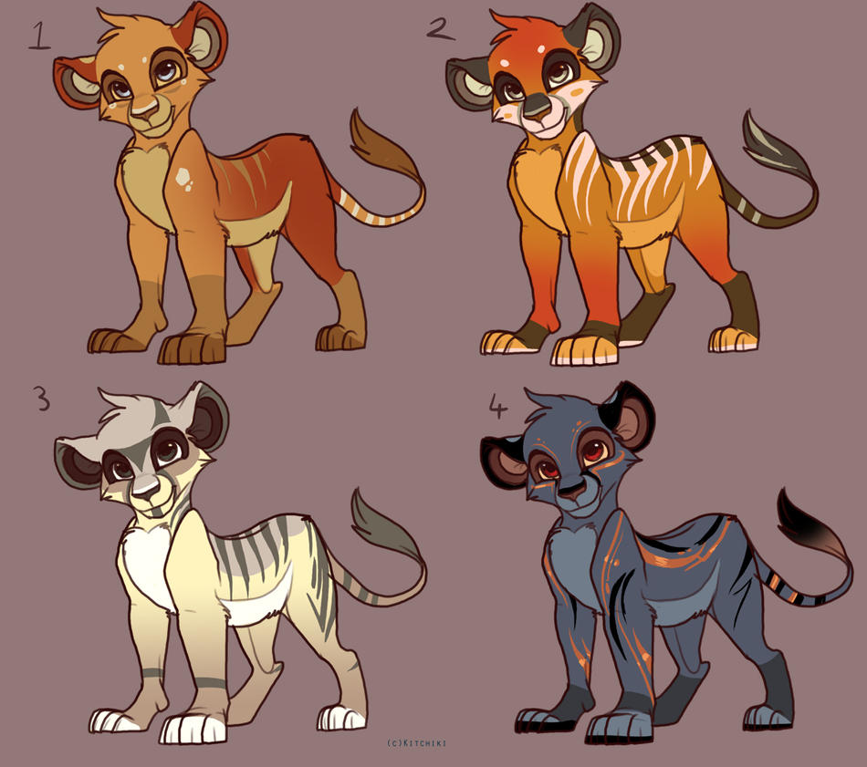 Lion Adoptables -OPEN- by Kitchiki