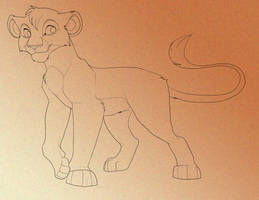 Male Lion Lines by Kitchiki
