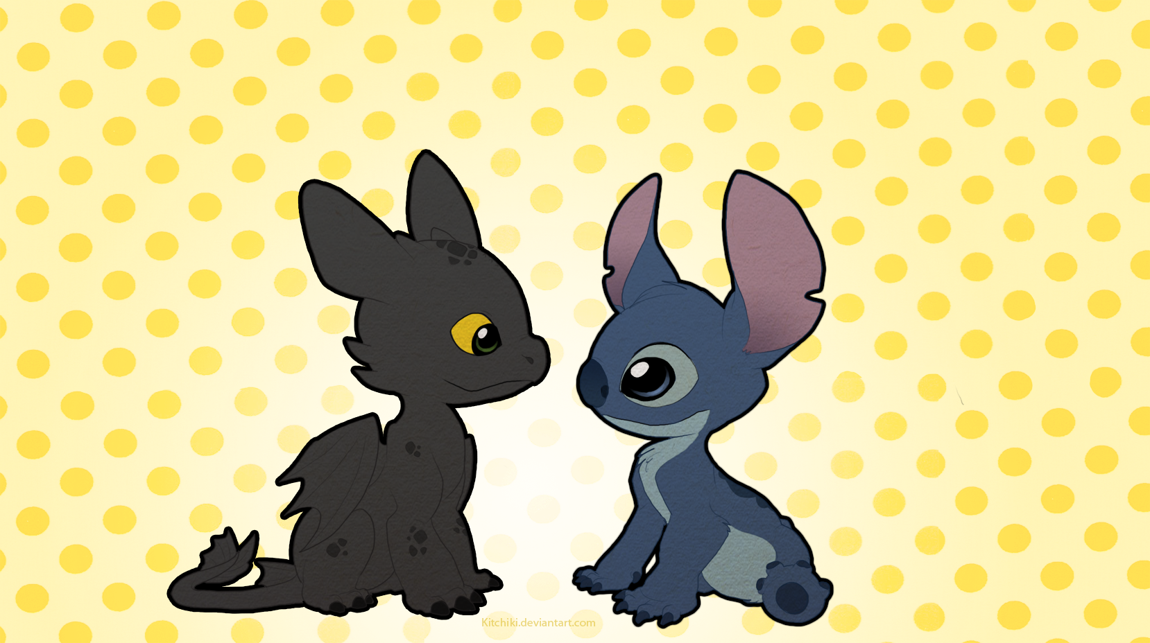 Stitch And Toothless By Kitchiki On DeviantArt